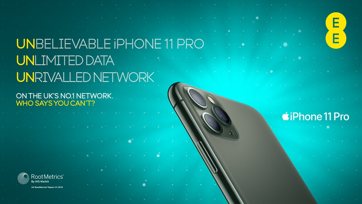 Ee On Twitter Unbelievable Iphone 11 Pro Unlimited Data Unrivalled Network On The Uk S No 1 Network Who Says You Can T Order Online Https T Co Tfrntohx2f Find Your Nearest Ee Store Https T Co Yt5ego0msg Https T Co Quqzyxbk8z