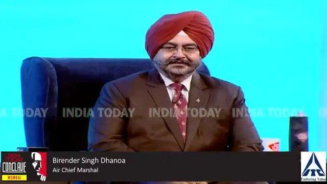 देखिए भारतीय वायु सेना प्रमुख बीरेंद्र सिंह धनोवा का लाइव इंटरव्यू, भारतीय वायु सेना की बदलती भूमिका पर हो रही है बात। #ConclaveMumbai19 @RahulKanwalलाइव देखने के लिए क्लिक करें http://bit.ly/MumbaiConclave19…