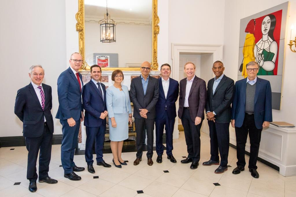 Positive meeting with @SatyaNadella and the Microsoft Board on opportunities to strengthen Ireland's position as a digital leader in Europe.