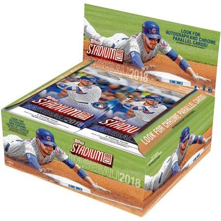 Box of 2018 Topps Stadium Club baseball cards