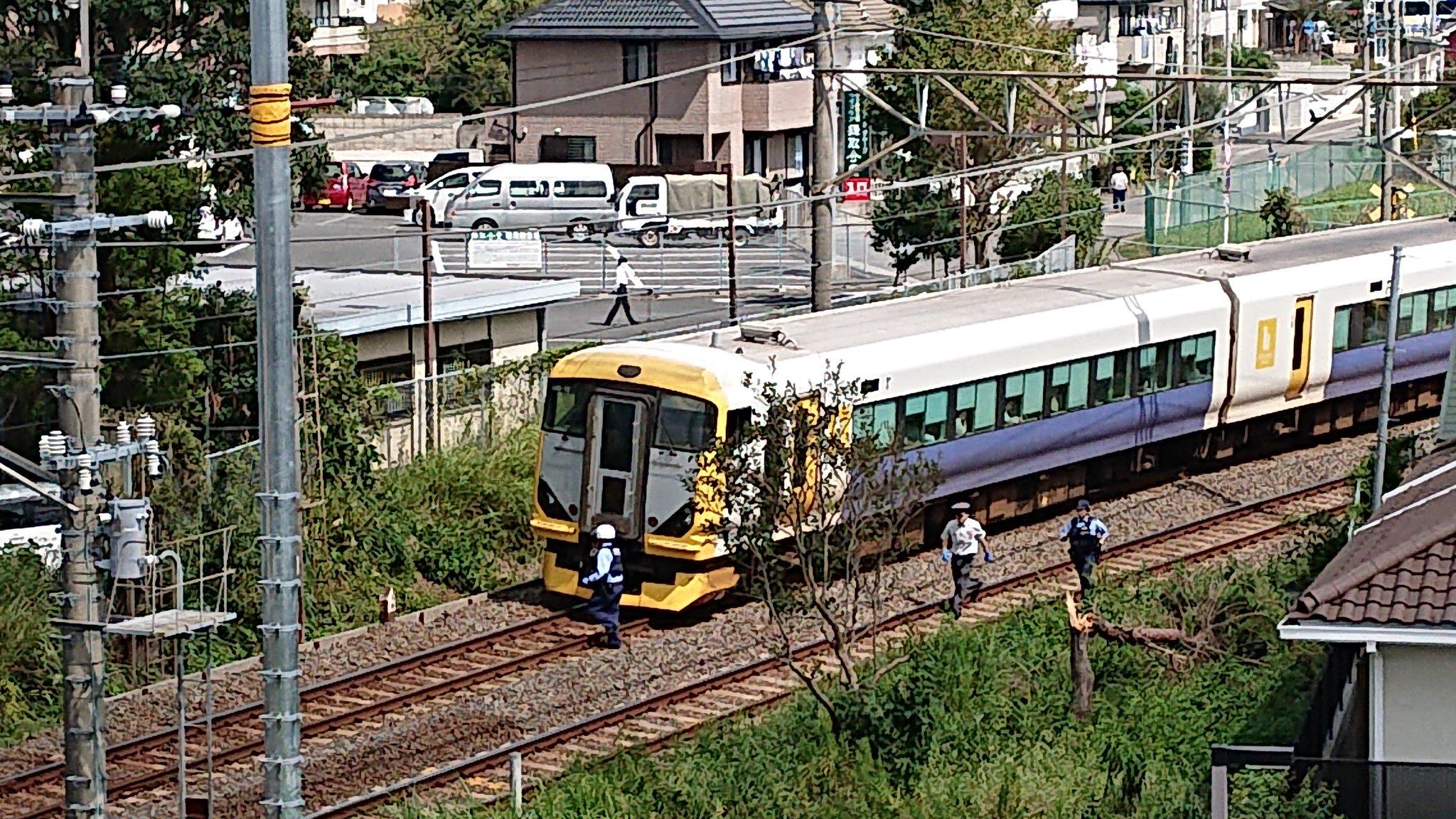 外房線の鎌取駅で人身事故が起きた現場の画像