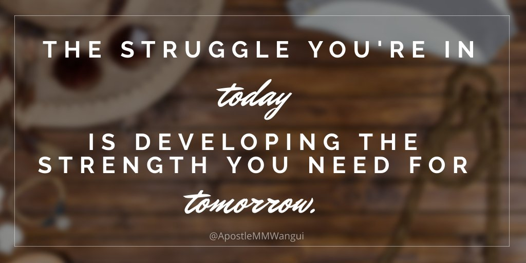 The struggle you are in today, is developing the strength you need for tomorrow. Never give up! #FaithFriday _____________ #FearlessFriday #FeelGoodFriday #FridayThoughts #FridayWisdom #FridayFeeling #Jesus #God #Bible #Hope