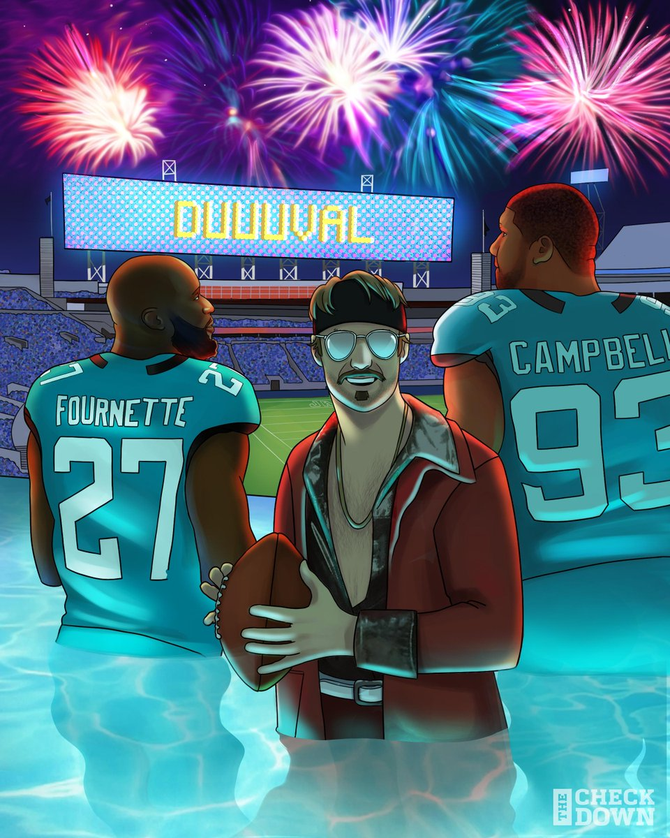 .@Jaguars throwing a #DUUUVAL pool party after that W 🎉 (via @thecheckdown)