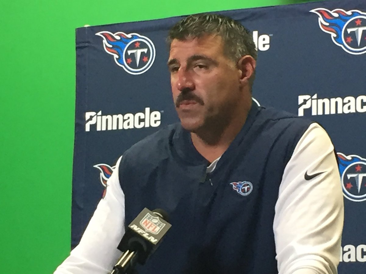 """Mike Vrabel said he """"absolutely"""" liked the way Marcus Mariota responded and fought in the second half.  Need to see of everyone is fighting that way. <br>http://pic.twitter.com/Pi5rHROWzv"""