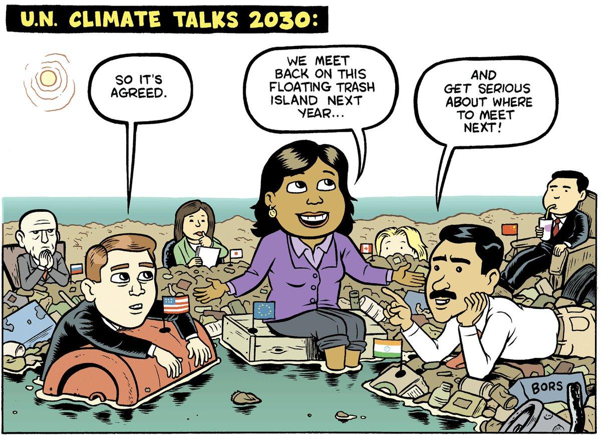 Live from the U.N. Climate Talks in 2030. #climatestrike thenib.com/u-n-climate-ta…