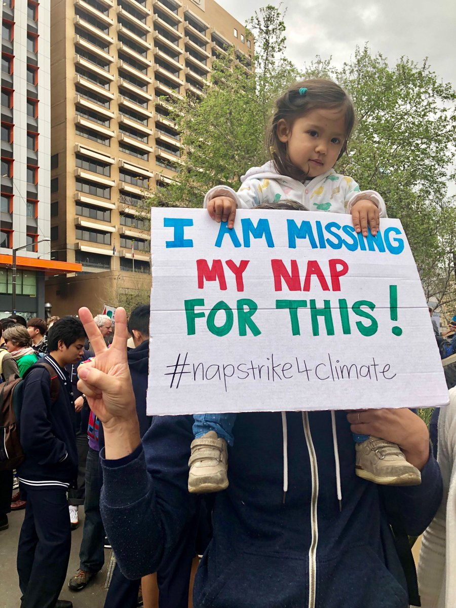 Things are getting serious 😬 #ClimateStrike