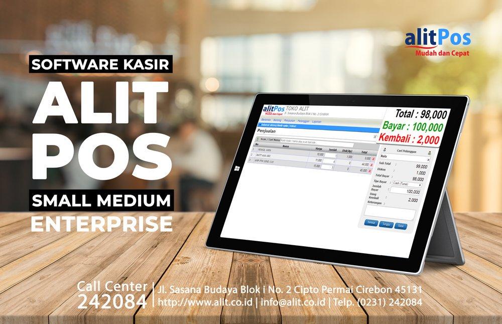 ALITPOS cocok untuk Anda yg suka melakukan event bazar ataupun ingin tampilan kasir #toko #warung yg minimalis.ALITPOS #Software #Penjualan #Kasir yg mudah dan cepat cocok untuk Bisnis #UKM. Support Barcode Scanner, Laci Cash Drawer, Mini Printer. Bisa diakses via Gadget juga!