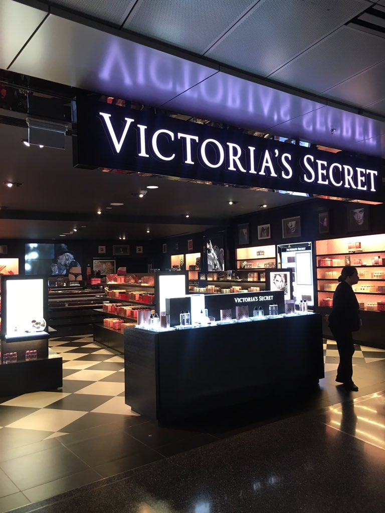 The lone undergarment in the Doha airport Victorias Secret (its all perfume and hand lotion)