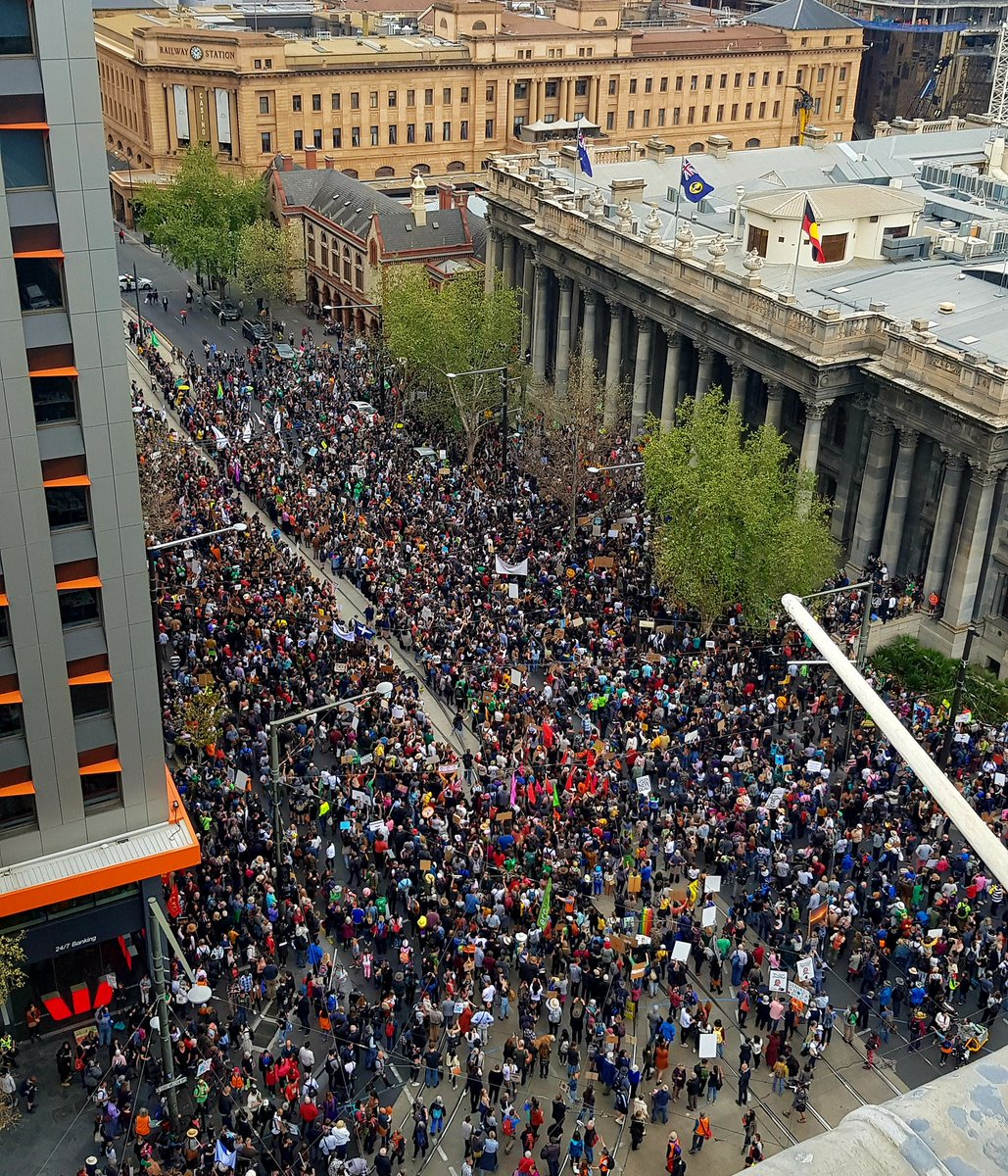 Amazing start to the #ClimateStrike looking at these pictures from Australia. Hundreds of thousands of young people ready to be heard and demanding real #ClimateAction #FridaysForFuture