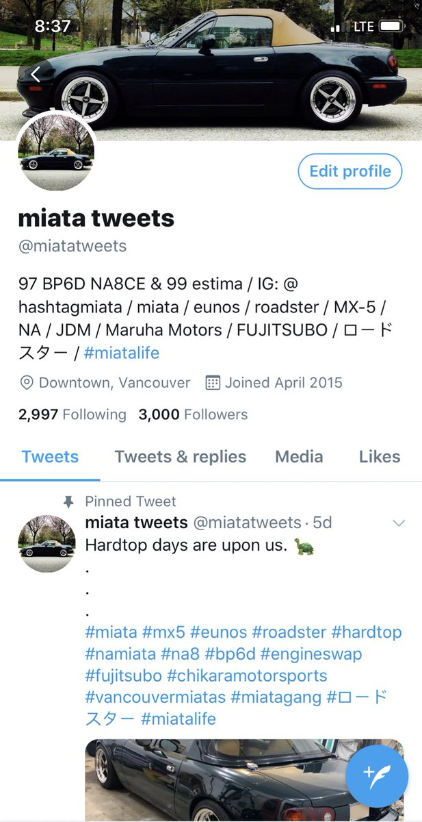 🔥🔥🔥 a HUGE shoutout and Thank You to my 3000 worldwide followers!!! I wouldn't be here without you fine tweeps. 👊🎉 ❤️ 🔥  #miata #mx5 #eunos #roadster #hardtop #namiata #na8 #bp6d #engineswap #fujitsubo #chikaramotorsports #vancouvermiatas #miatagang #ロードスター #miatalife