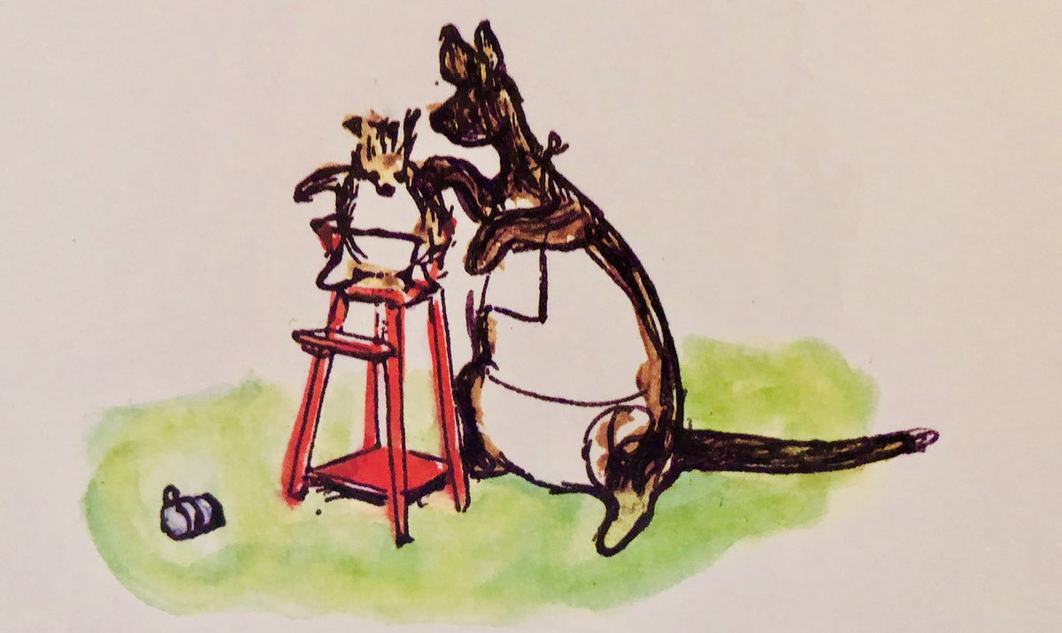 "It was the first party to which Roo had ever been, and he was very excited. He began to talk and Kanga said, ""Drink up your milk first, dear, and talk afterwards."" So Roo tried to do both at once... and had to be patted on the back and dried. ~A.A.Milne #FridayFeeling #party"