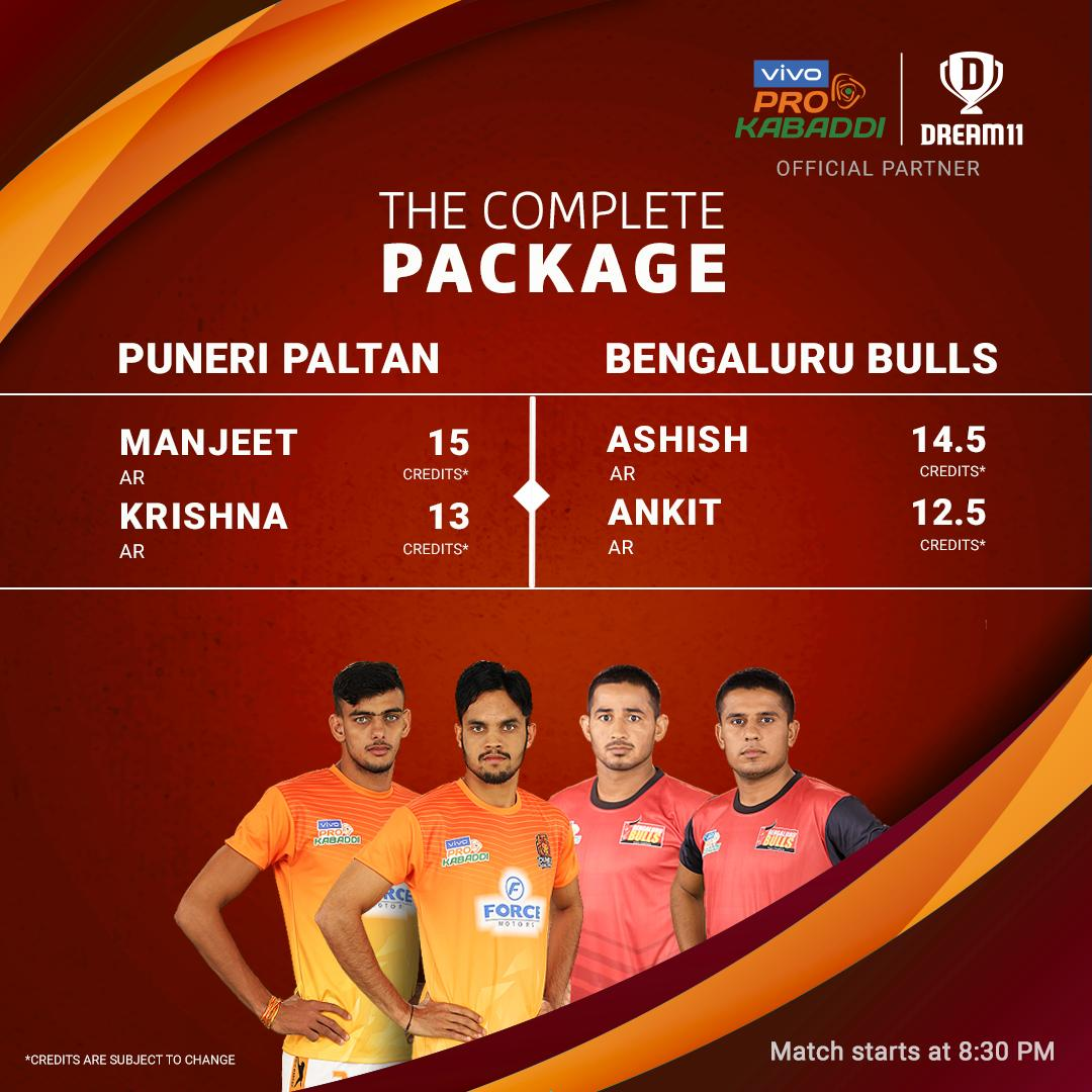 Can @PuneriPaltan take the home advantage in their last home game tonight? Click here to create your teams for #PUNvBLR - http://d11.co.in/Pro-Kabaddi@ProKabaddi @BengaluruBulls