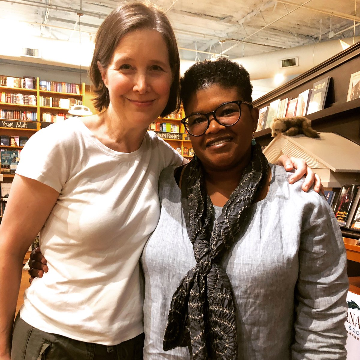 When you walk into @parnassusbooks1 in Nashville and an award-winning author is stacking shelves, you know you've arrived at a special bookstore as down-to-earth as its wonderful owner, Ann Patchett.