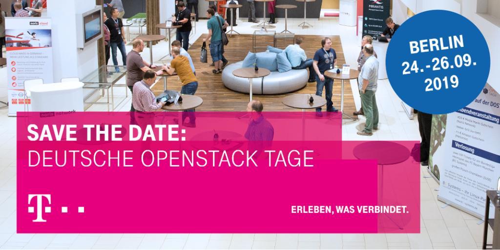 Social Media Post: Die vierten Deutschen OpenStack Tage rufen – da darf die Open...