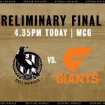 Image for the Tweet beginning: It's @CollingwoodFC vs @GWSGIANTS at