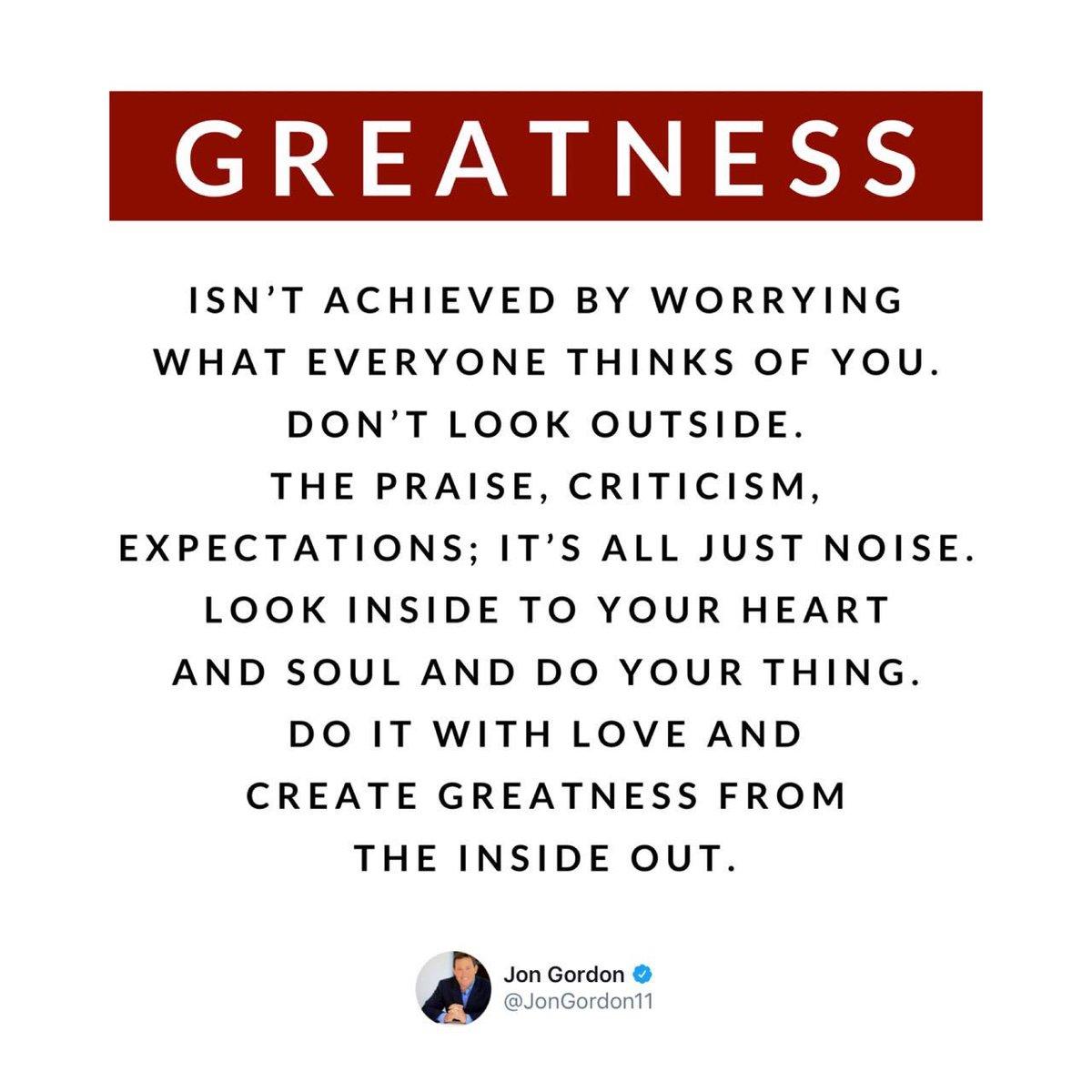 Advice that is life changing! Thanks for the reminder, @JonGordon11 #JoyfulLeaders