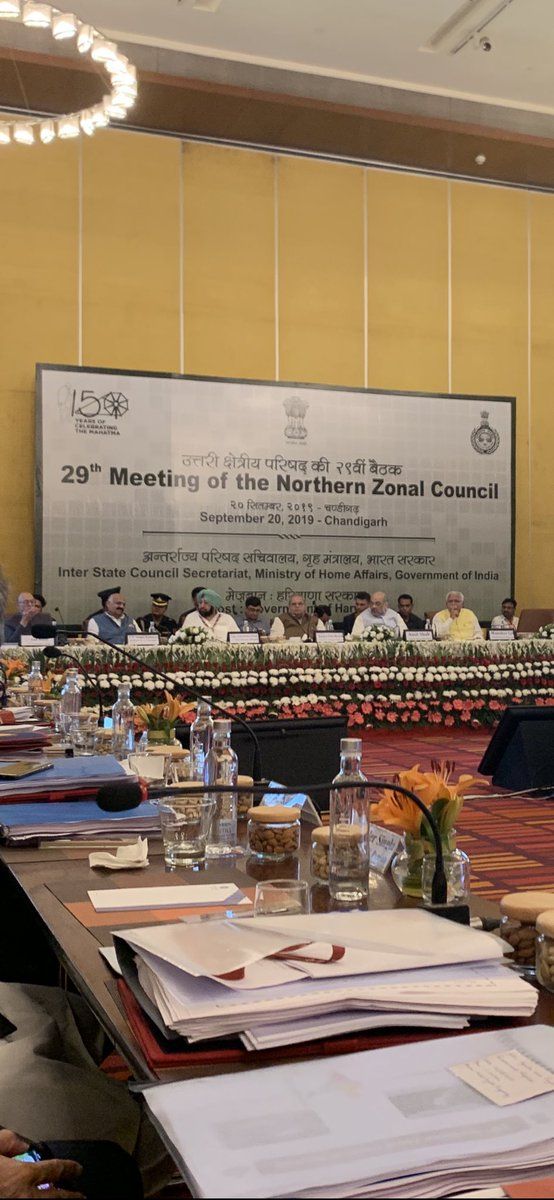 Participated in the 29th Northern Zonal Council meeting held at Chandigarh under the chairmaship of Sh Amit Shah, Home Minister. Requested Home Minster and CMs of Haryana and Punjab to take all possible steps to prevent crop burning so that Delhi air quality does not deteriorate.