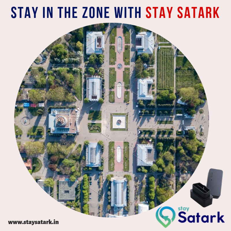 Make sure your car always remains in the zone you've set. Experience #geofencing alerts easily on your smartphone!#StaySatark #GPSTracker #Alerts#GPSDevice