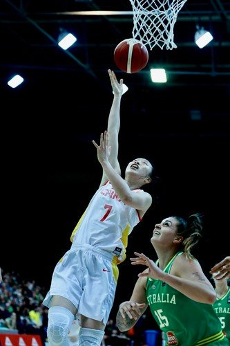 The Chinese women's basketball team suffered their third straight defeat to Australia in their one-week Canberra training camp