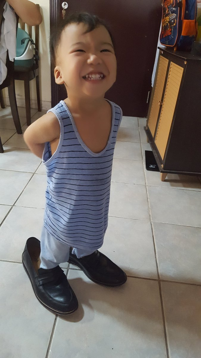 This little man is in a hurry to fit in daddy's shoes while we all wish him to not grow up so fast..#jaxrui #toddlerlife <br>http://pic.twitter.com/vYAGeyROyp