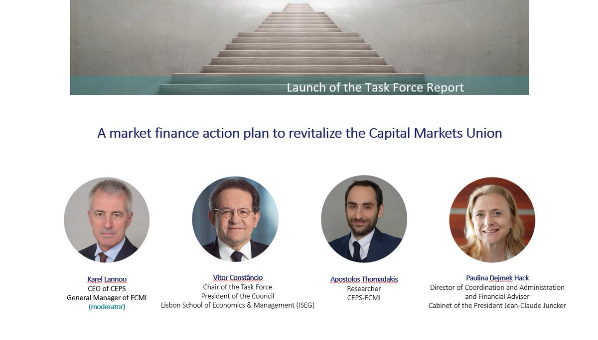 Political support at the highest level is needed to achieve the objectives of the Capital Markets UnionNext week we are presenting a proposal for an action plan with @VMRConstancio, Paulina Dejmeck-Hack, @karel_lannoo and Apostolos Thomadakis #CMUhttps://bit.ly/2jYvwm0