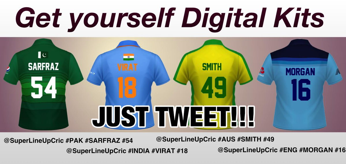 #CWC19 #CWC2019 #PAKISTAN #ENGLAND #INDIA #AUSTRALIA #CWC #CricketWorldCup #CricketLIVE #Indians #PAK #AUS #ENG #IND Get yourself #CWC19 #DigitalKits