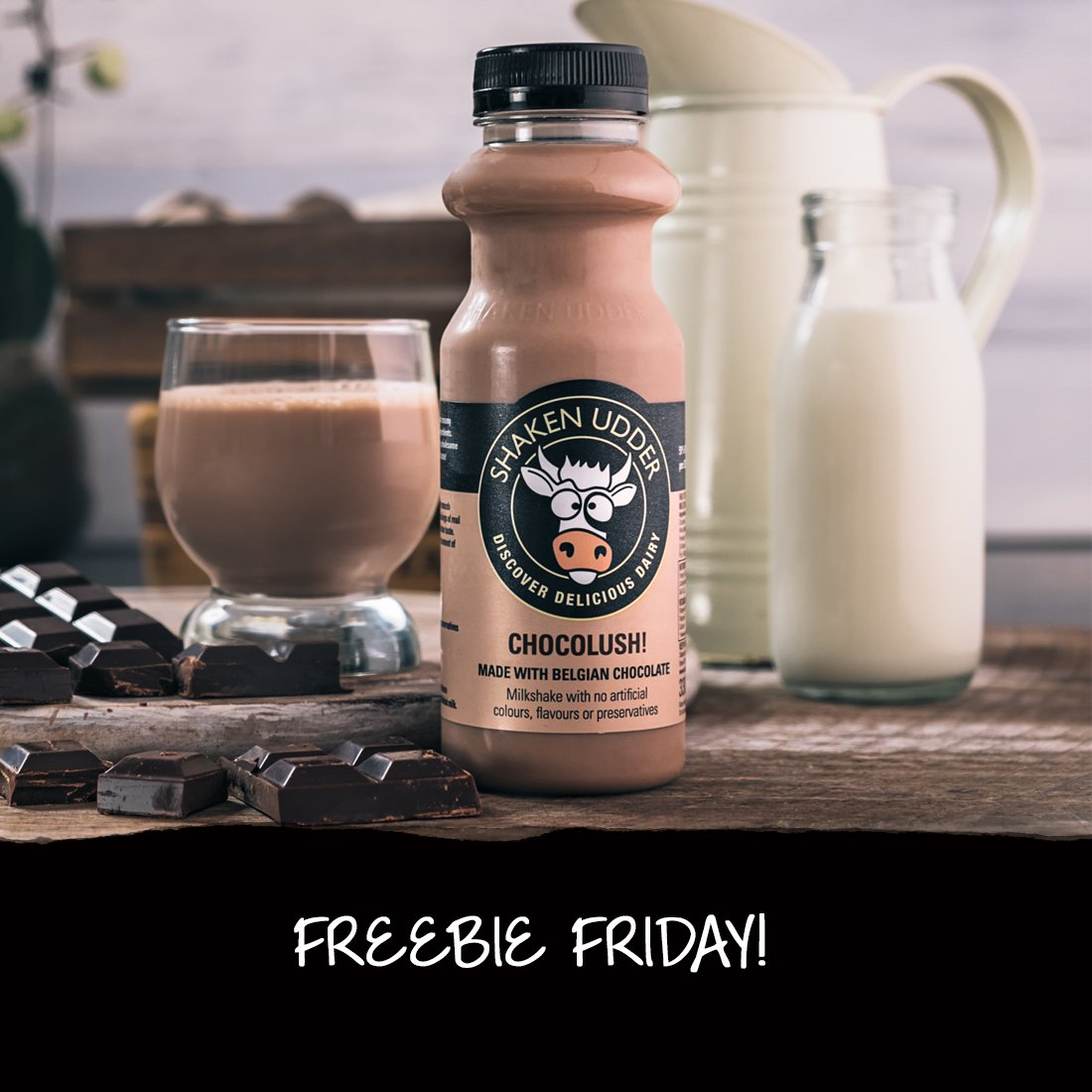 Our favourite day of the week is BACK! To celebrate our love for #Friday's we're hosting a #FreebieFriday #giveaway. All you have to do to get yourself a bundle of tasty Chocolush shakes is like, share & comment on this post with who you'd share it with. READY, SET, GO! Good Luck<br>http://pic.twitter.com/AmNPuD0lsM