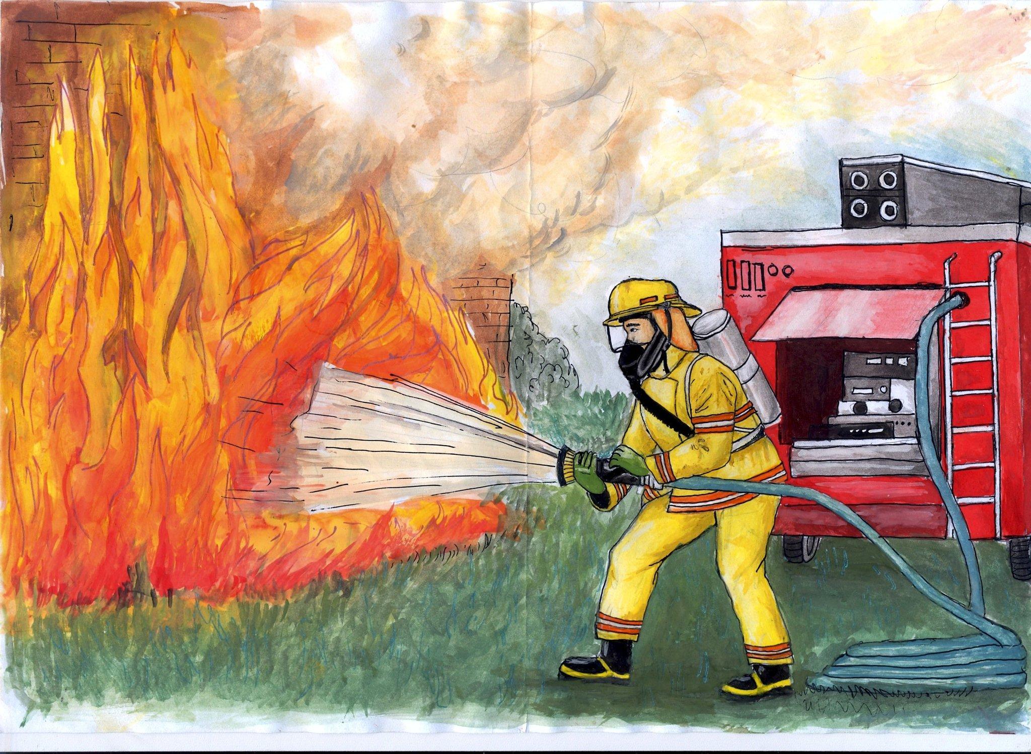 фото чем потушить пожар картинки вилки