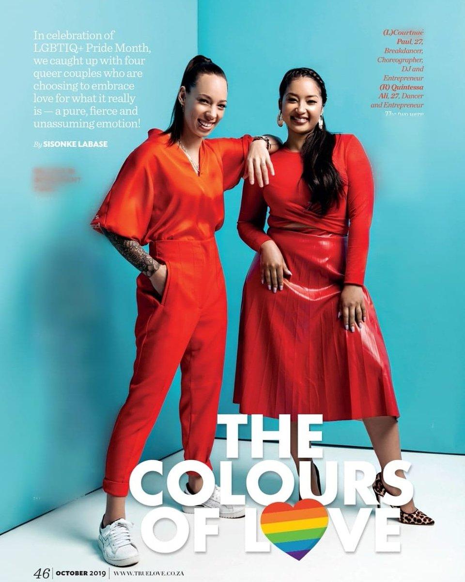 "MEDIA ALERT:@TrueLovemag latest issue celebrates ""The Colours of Love"" @Courtnae_Paul & @quintessa_ali.#PrideMonth"