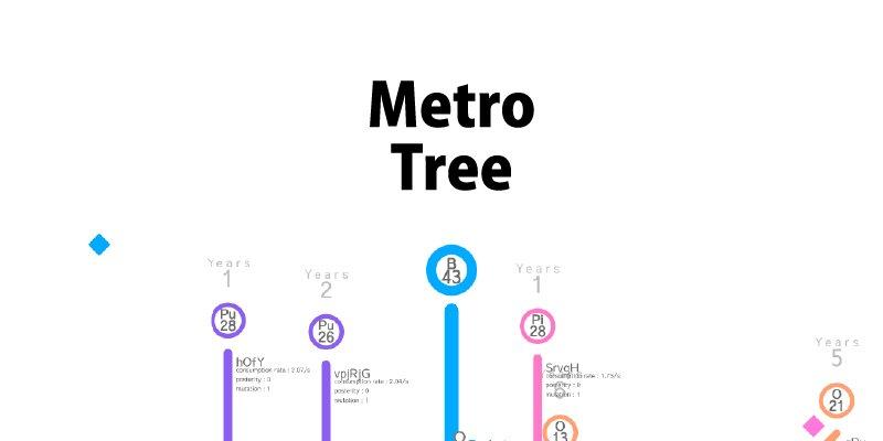 unity1weekにて総合1位を頂いた「MetroTree」をスマートフォンアプリ用に大幅アップグレードしてリリースいたしました!是非プレイしてみてください!GooglePlayAppStore
