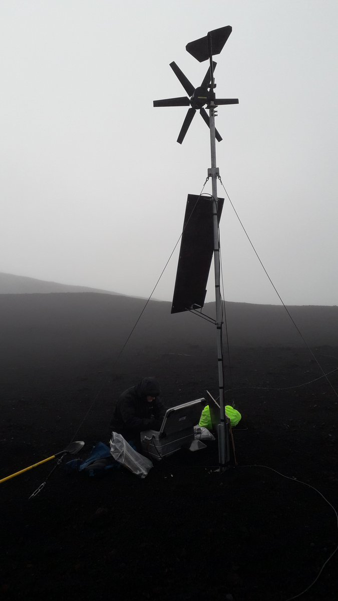 test Twitter Media - Serviced the HERSK seismic network on Hekla volcano, Iceland, operated by @DIAS_Dublin in collaboration with Icelandic Met Office @Vedurstofan, field support also from @BGSseismology, project seed funded by @GeolSurvIE  #DIASdiscovers https://t.co/TwxVgujvsf