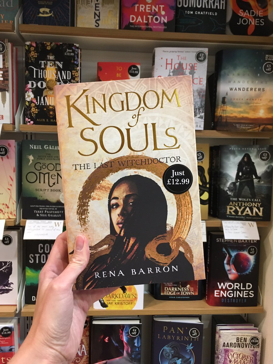 First up a debut from @renathedreamer #KingdomofSouls! I was lucky enough to read a proof of this and it is incredible! If you like Black Panther you will love this! @HarperVoyagerUK