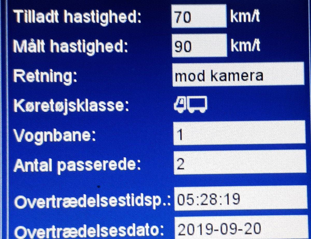 Fotovognen har været på Kongeåvej i Vejen, men i dag var vi ikke i Foldingbro men ved Skibelund, her er det også vores fokusstrækningn hvor vi vil måle oftere end andre steder.  I alt blev 18 blitzet, den værste  lastbil kørte 90 km/t og personbil kørte 103 km/t #atkdk #politidk https://t.co/xPsRnwTvxY