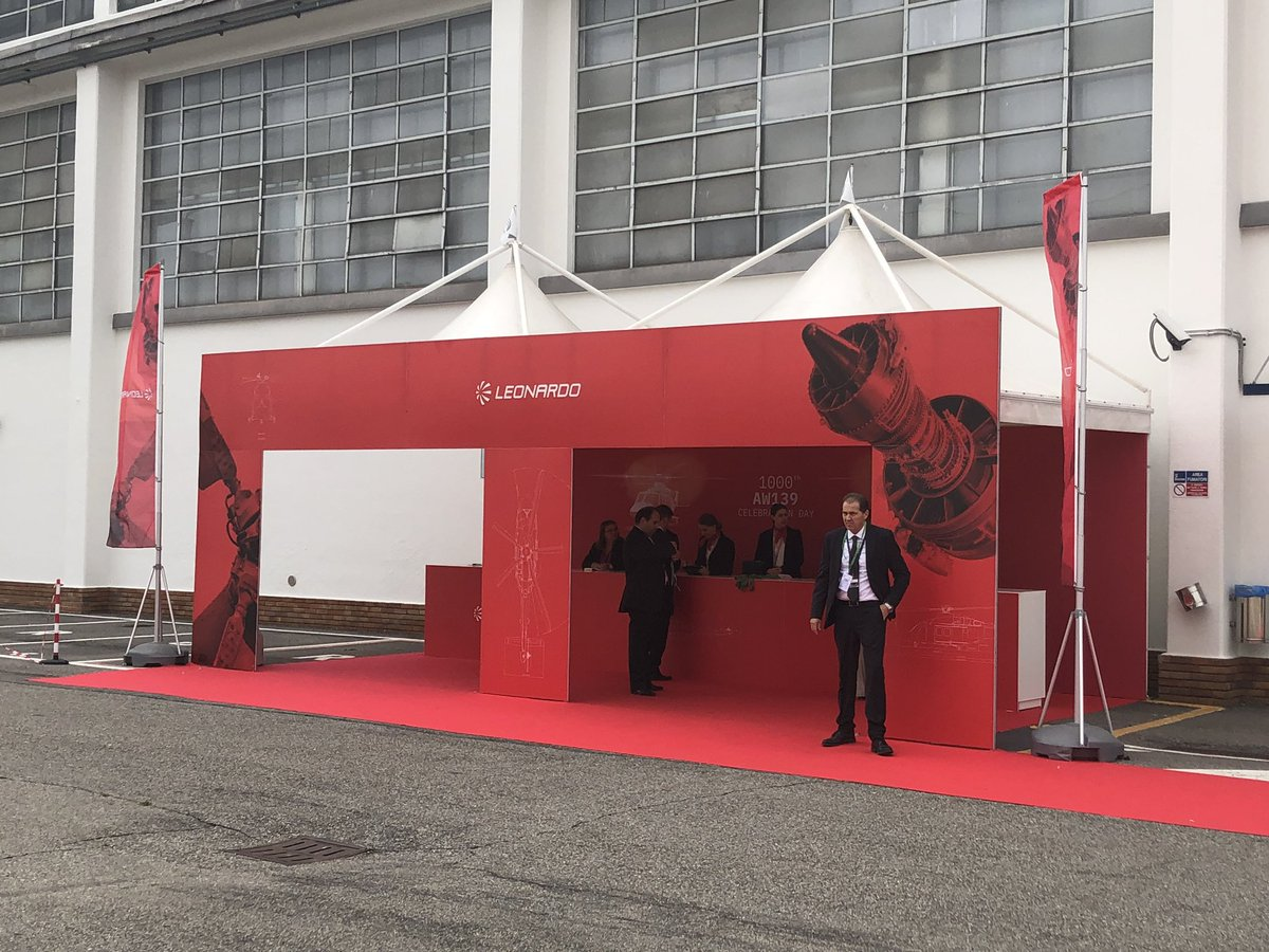 The ceremony for the delivery of the 1000th #AW139 will begin shortly. Follow the event with us to celebrate this historic achievement #Grazie1000 #StayTuned #SimplyNoRivals