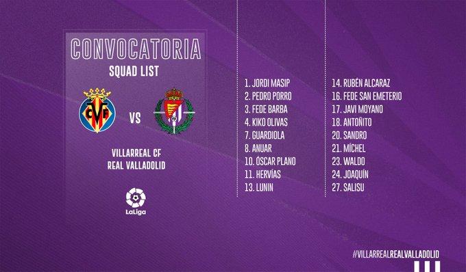 EE5ZJPaU4AMICji?format=jpg&name=small Nacho y Toni Villa fuera de la convocatoria para jugar en Villarreal - Comunio-Biwenger