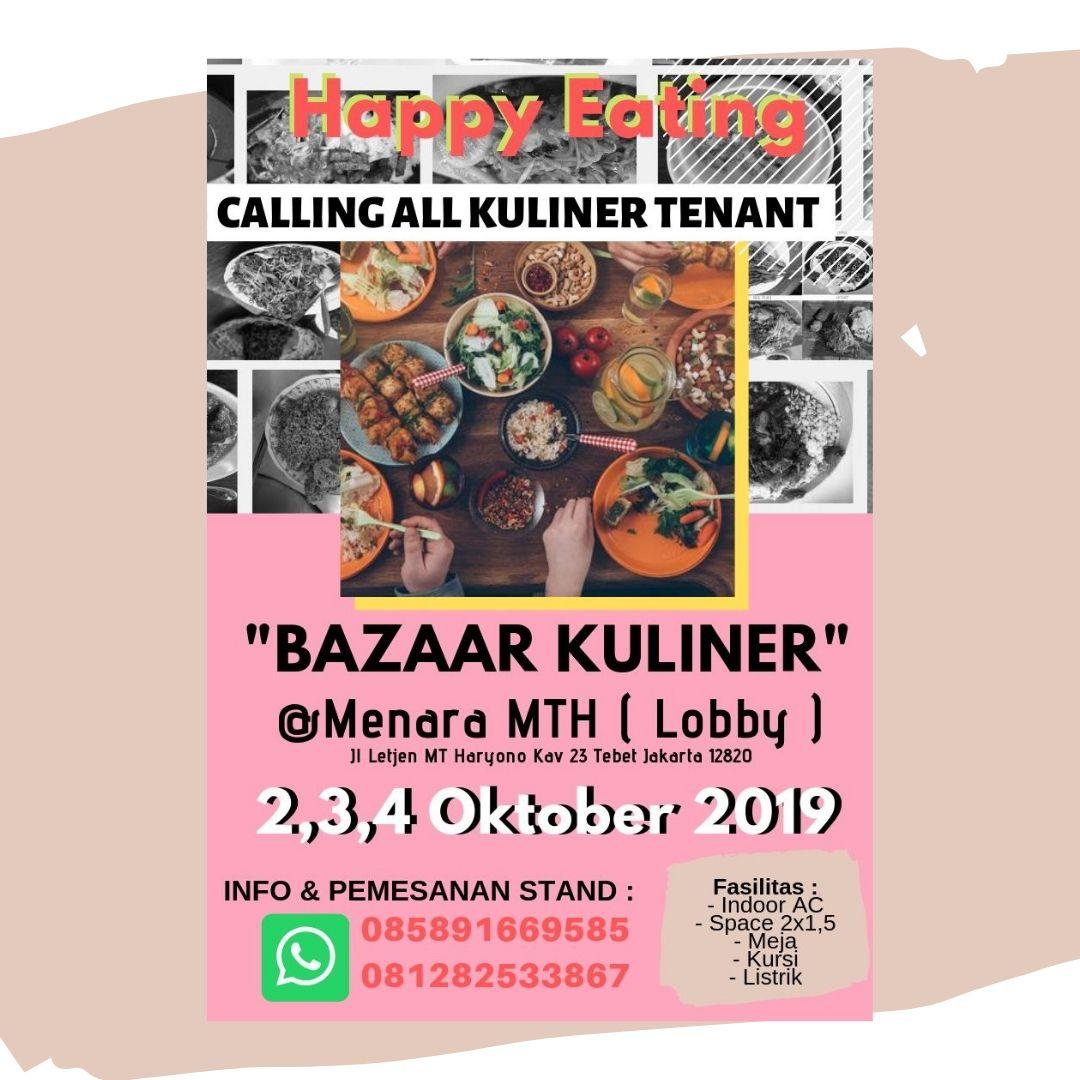 Info Stand Bazaar | Bazaar Kuliner | 2-4 Oktober 2019 | Menara MTH (Lobby) | hub: 085891669585 / 081282533867   #bazaarjakarta #bazaarjkt #eventJKT #infostandbazaar #menaramth #ukm #ukmbazaar #jadwalbazaarukm #ukmjakarta