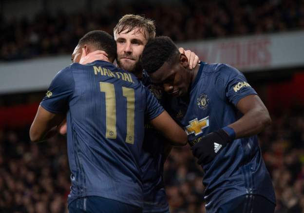 Manchester United team news...Paul Pogba, Anthony Martial and Luke Shaw will all miss Sunday's trip to West Ham.More: https://bbc.in/2kTO2fT