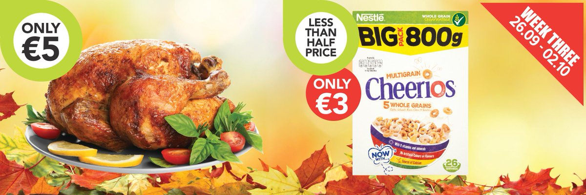 One week - amazing deals! *At participating stores only, while stocks last.  #deals #offers #costcutterire #shoplocal #proudtobelocal #foodshop #shopping https://t.co/rDZ4KRLew0