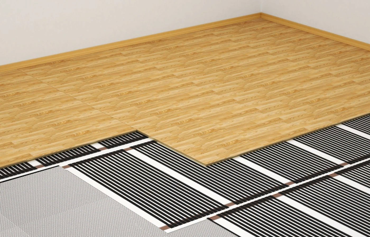 тёплый пол под ламинат на бетонный пол