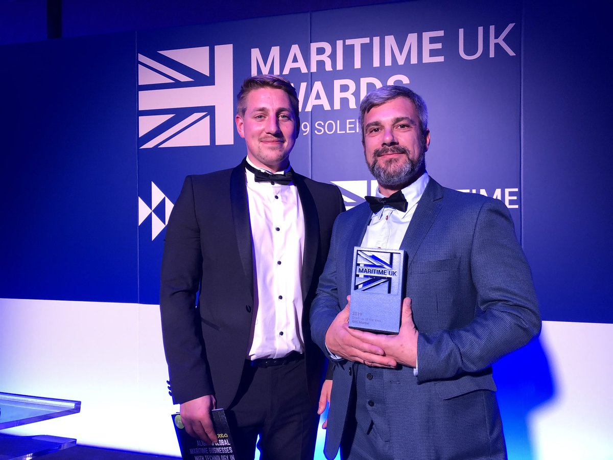 WINNERS! Fantastic to see another one of our companies @arc_marine  doing so well. Great work guys, richly deserved. @PlymUniMI @PlymUni @Invest_Torbay @Chamber_Devon @BrixhamChamber @PlymSciencePark