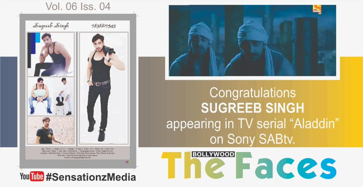 Sensationz Media Arts On Twitter Model Actor Sugreeb Singh Appeared On Sensationz Media Arts Pvt Ltd Quarterly Magazine The Bollywood Faces Artiste Profile Pages And He Has Now Successfully Appeared In