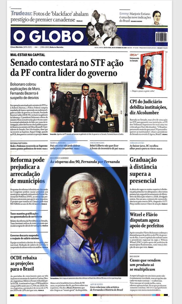 Bom é o dia em que os principais jornais reconhecem Fernanda Montenegro