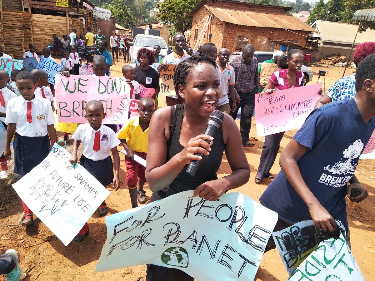 "Nakabuye Hilda F. on Twitter: ""We are not ready to die young.  #globalclimatestrike today in Uganda, Wakiso District..  #strikeforclimatechange. #forpeopleforplanet #wearerestless @Fridays4future  @Fridays4FutureU @GretaThunberg @RestlessDev ..."