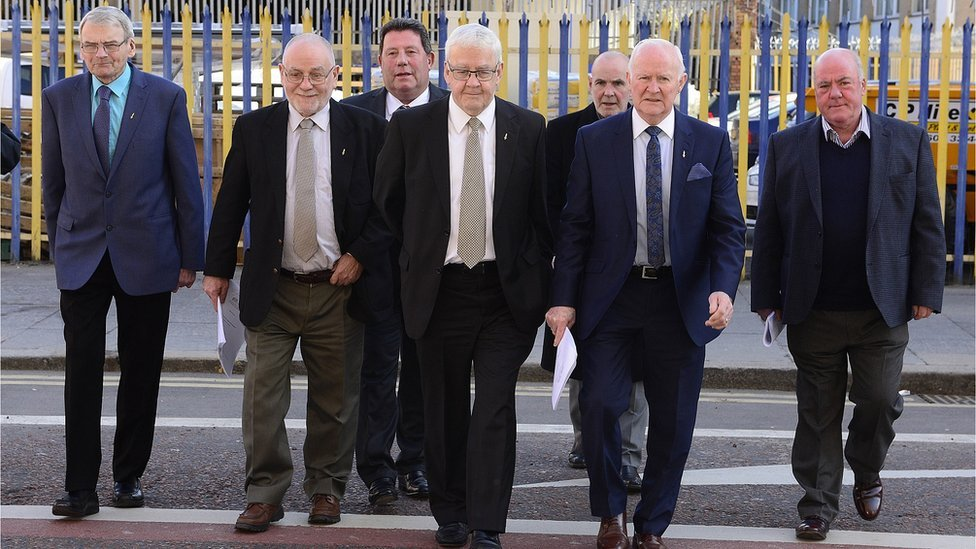 The so-called Hooded Men win the latest stage of their legal battle to force an investigation into alleged torture by the security forces in Northern Ireland in the 1970s https://bbc.in/2Azkzfu