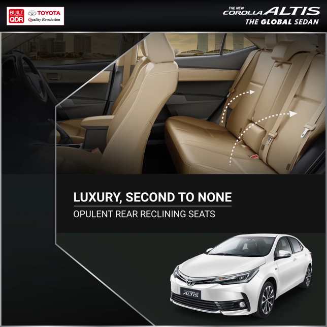 Experience world-class design and craftsmanship, tailored to suit your luxurious needs.   Aboard the #Toyota #CorollaAltis   Visit : https://t.co/TnBFElen8R for more.   #Toyota #CorollaAltis https://t.co/qKdkWQoy2Y