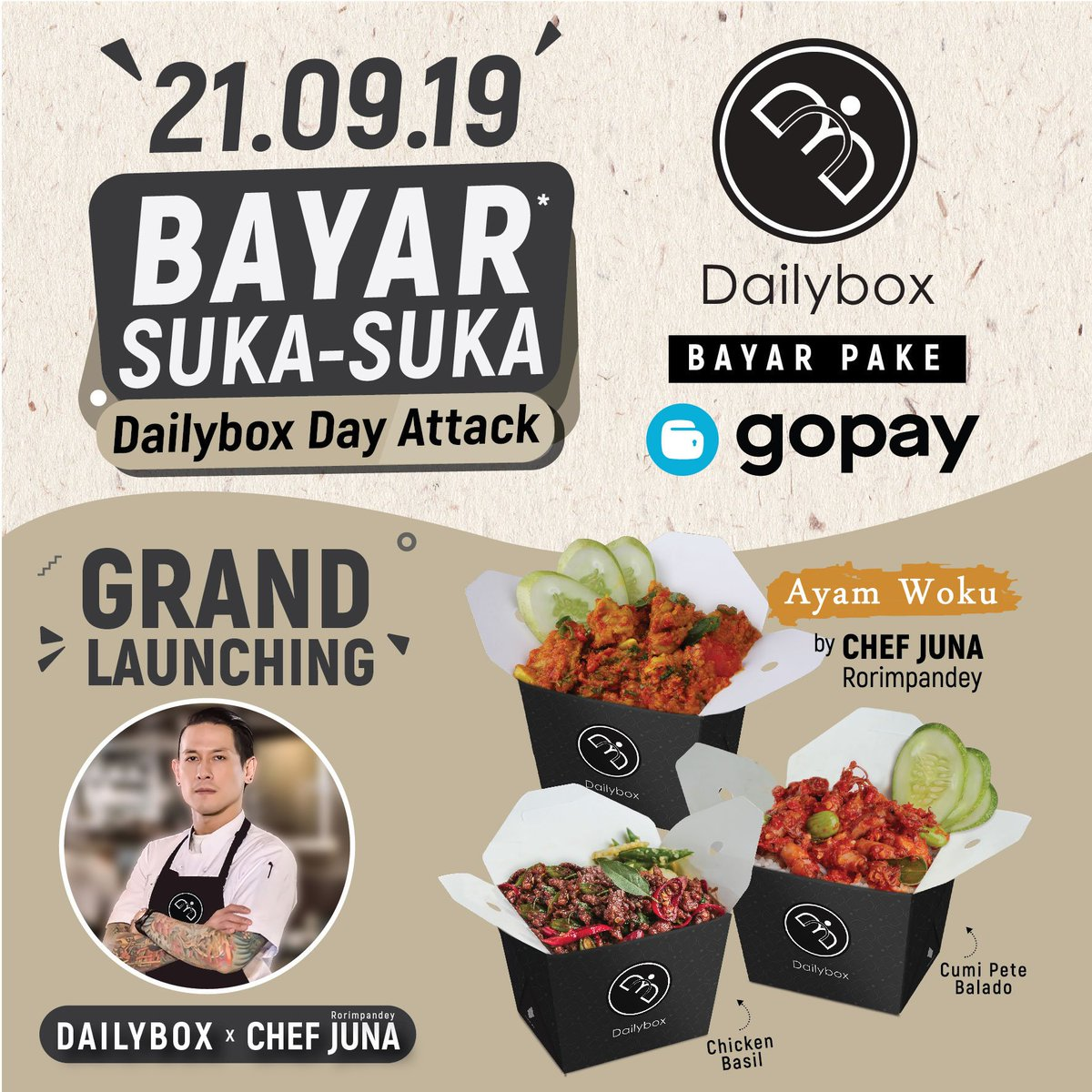 Grand Indonesia On Twitter Come And Join The Hype At Dailybox Day Attack 21 09 2019 Choose Your Favorite Menu And Pay It As You Like Be The First To Try Dailybox S Collaboration Menu