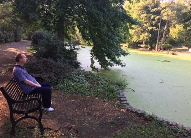 Adrian is taking in the #peace and #tranquility of #FairyHillPark #outandabout #learningdisabilities #autism #mentalhealth