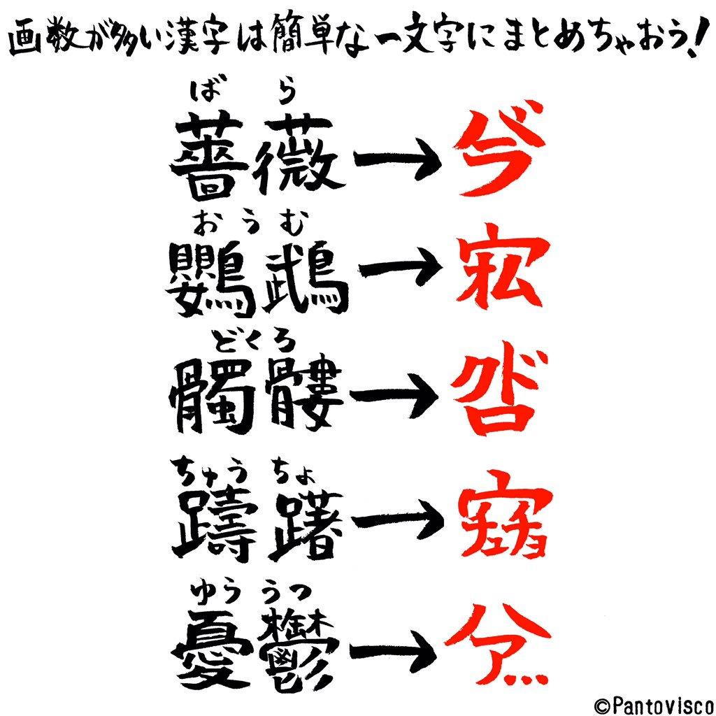 漢字 画数 の 多い