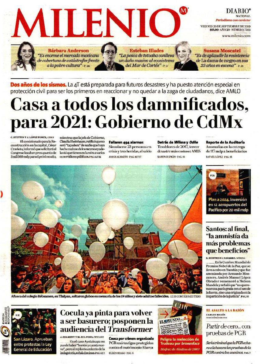 #Las8Columnas #Milenio: Casa a todos los damnificados, para 2021: Gobierno de CdMx