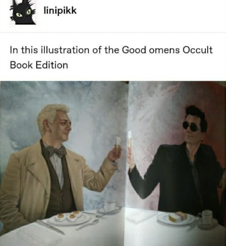They're like teenagers who eat whatever resemble their crush!   #GoodOmens <br>http://pic.twitter.com/qXulO4H4Od